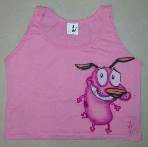 Camiseta Feminina Cão Coragem