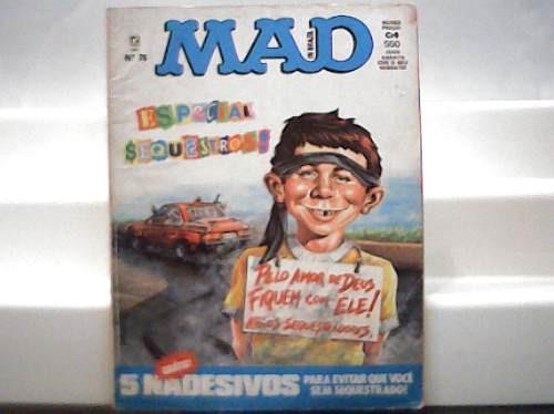 Revista Mad Nº 76 / Especial Sequestros / Agosto 1991