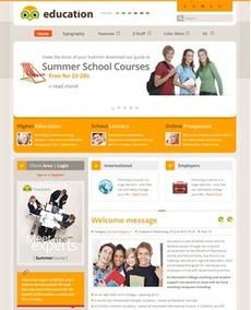 Site Para Escola E Curso, Em Joomla 2.5 - Modelo J389