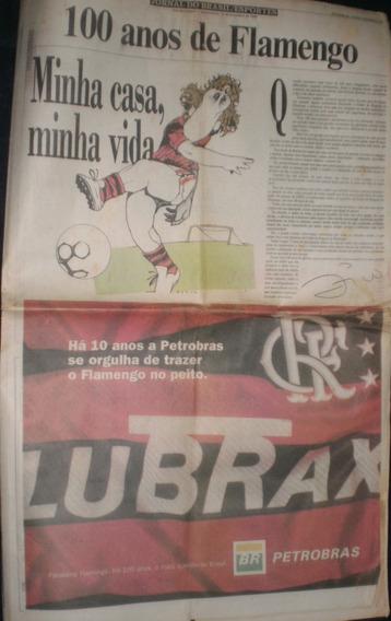 Jornal Do Brasil - 1995 -100 Anos De Flamengo