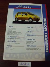 Prospecto Folder Daewoo Matiz - Ref.: 3827