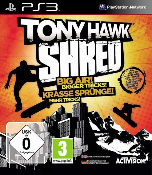 Playstation 3 Tony Hawk Shred - Novo - Lacrado