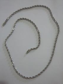 Cordão Aço Antialérgico 61cm 4mm Não Descasca Não Enferruja