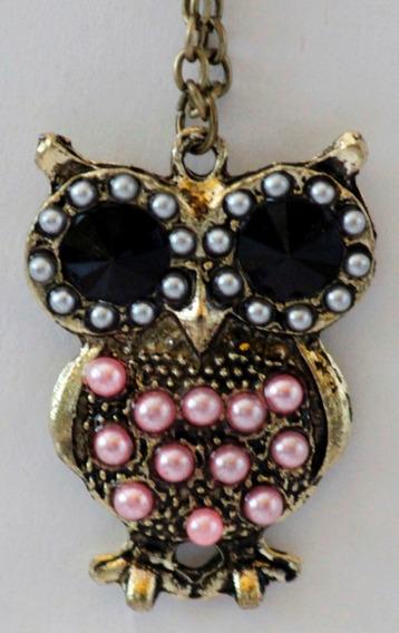 Collar Y Dije-buho-ave-perlas- Flete Gratis