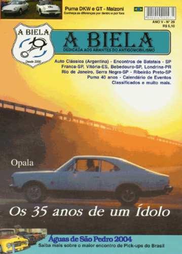 Revista A Biela Nº29 Opala 35 Anos Puma Dkw Gt Malzoni