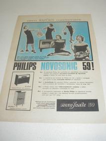 L 290/ Pps160 Propaganda Antiga Philips Radiofone Novosonic