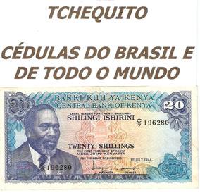 Quênia 20 Shillings 1977 P. 13d Sob Cédula - Tchequito