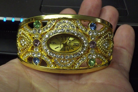 Relógio Quartz Feminino Com Cristais - Maravilhoso - Único