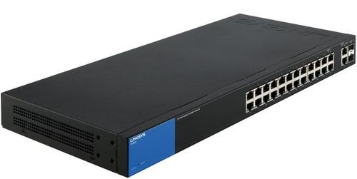 Imagen 1 de 3 de Switch Linksys Lgs326p Gigabit  24 Puertos Poe+ Sfp