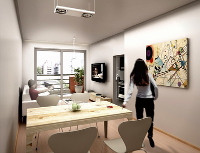 Vendo Departamento Monoambiente A Estrenar +patio+ Balcon