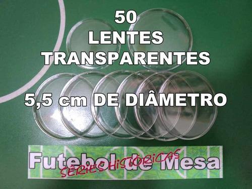 50 Lentes Transparentes De 5,5 Cm - Futebol De Mesa