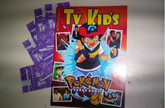 Album De Figurinhas E Cards Tv Kids Pokemon
