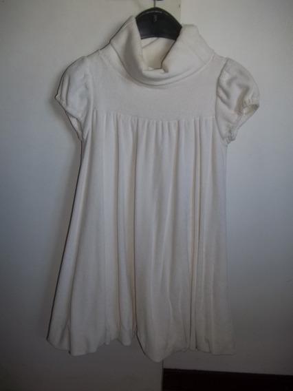 Vestido De Fiesta Nena Plush Color Crema 6/8 Años
