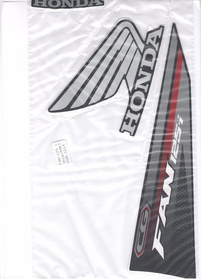 Kit Adesivos Honda Fan 125i 2016 Preta