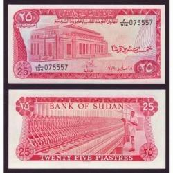 Sudão 25 Piastras 1978 P. 11b Fe Cédula - Tchequito