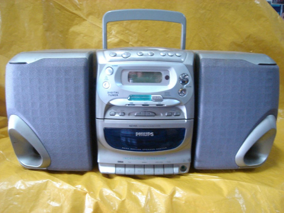 Mini-micro System Philips Az-2425 - C/ Cxs - K7 - Cd - Radio