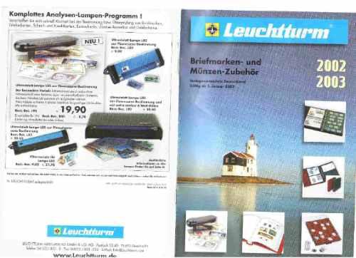 Catalogo Alemão Leuchttunrm Material Numismática / Filatelia