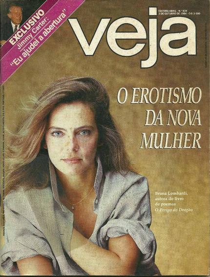 Revista Veja - 03/10/84 - Bruna Lombardi