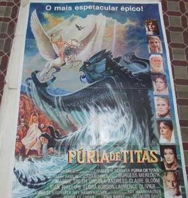 Cartaz De Cinema Do Clássico Fúria De Titãs P/ Decoração!!!!