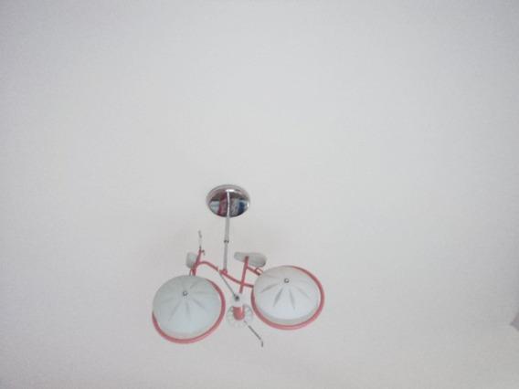 Lustre Infantil Menina Bicicleta Rosa Frete Grátis Brasil