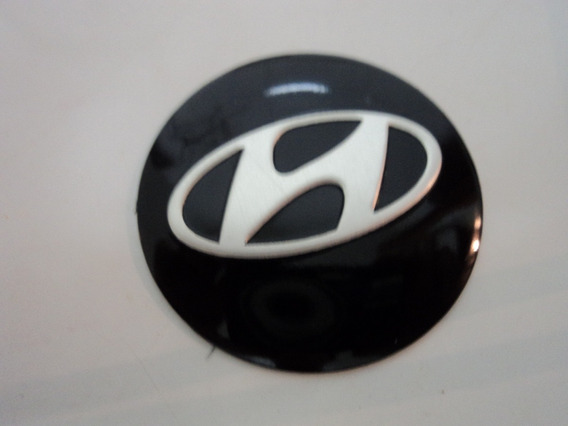 Emblema Adesivo Hiyndai Para Rodas Esportivas 51mm
