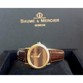 Baume & Mercier Ouro Amarelo Classic , Ouro , Couro!!