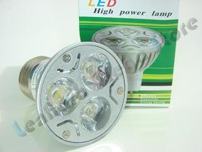 Kit Com 5 Spot E27 3 Super Leds - 3 Watts 3w- Branco Frio