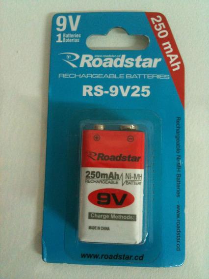 Bateria/pilha Rs-9v25 Roadstar 250mah Com 1 Unidade