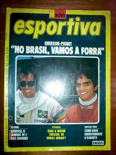 Revista Manchete Esportiva F1 Fittipaldi Piquet Formula 1 79