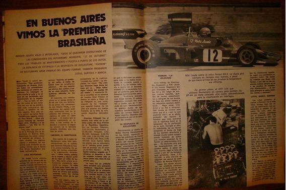 Revista El Grafico Fittipaldi F1 1974
