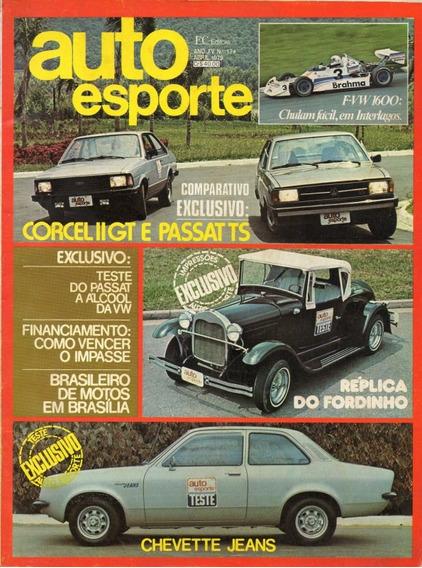 Auto Esporte Nº174 Corcel Ii Gt Vw Passat Ts Chevette Jeans