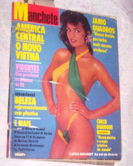 Manchete 1983 Futebol Italiano Janio Ayrton Senna Aviação O