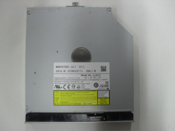 Drive Gravador Cd/dvd Slim Notebook Sata Panasonic Uj8c2