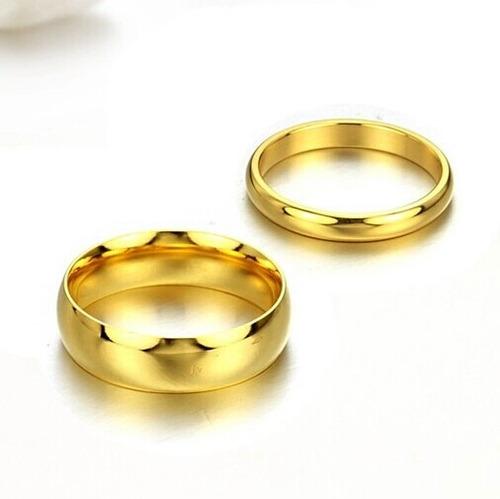 Anillos De Matrimonio Oro 18k Boda Plata Alianzas Aniversari