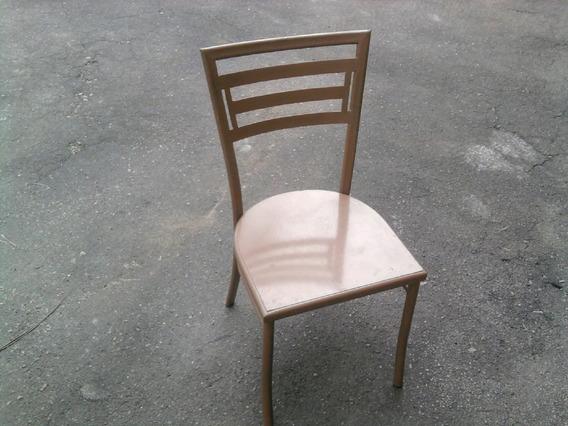 Base De Mesa Co 4 Cadeira Em Ferro Acento Da Cadeira Em Chap