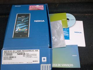 * Caixa Vazia Do Nokia X6 Preto E Vermelho *