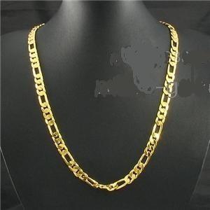Corrente Cordão 2 Banhos De Ouro 18k 60 Cm, 5mm, Figaro 3x1