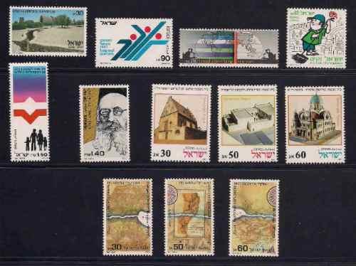 Israel 1987 Lote Selos Comemorativos Series Completa Judaica