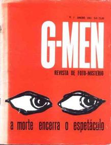 G-men Nº 1 - Revista De Foto-mistério - Edibrás - 1961