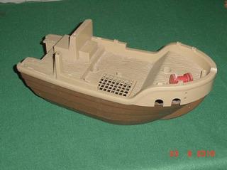 * Barco Tipo Playmobil - 40cm De Comprimento *