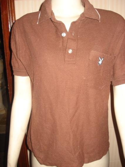 Camisa Tipo Polo C/ Bordado Da Play Boy Made In Usa Tam P