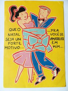 M-151 Cartão Postal Antigo Revista Caricia Sem Uso.