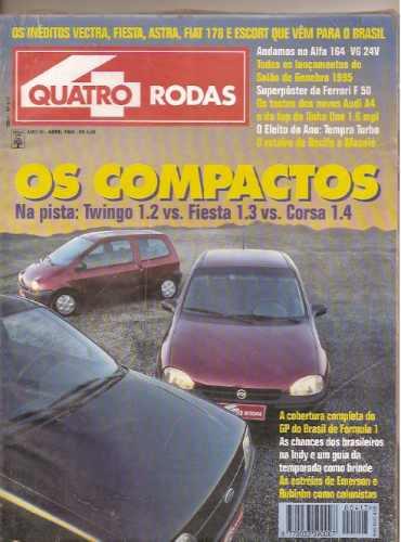 Revista Quatro Rodas - Os Compactos..twingo 1.2 Vs.fiesta 1.