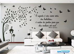 Adesivo Decorativo De Parede Arvore Galhos Com Frase
