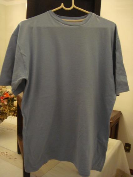 Camisa Blusa Basica Azul Tam. G