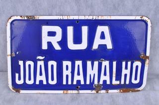 Antiga Placa Rua Em Ágata Rua João Ramalho