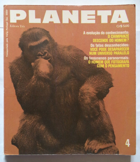 Revista Planeta Nº 4 Dezembro De 1972 Rara