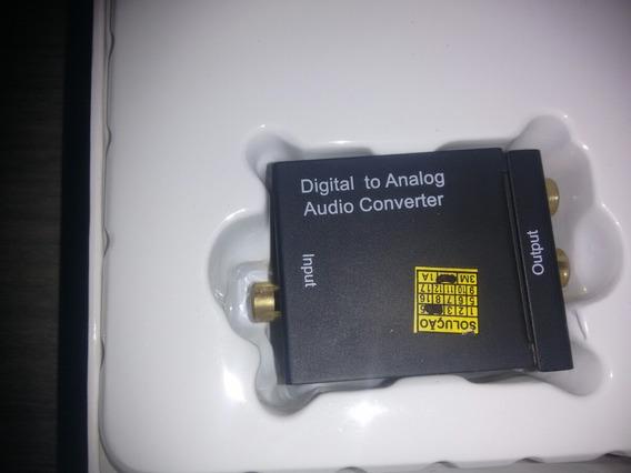 Conversor Digital Coaxial / Óptico Para Áudio Analógico L/ R