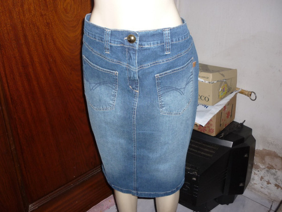 Saia Em Jeans Tamanho 52