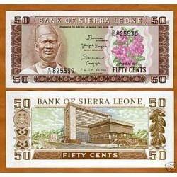 Serra Leoa 50 Cents 1974 P. 4b Fe Cédula - Tchequito